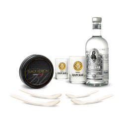 Coffret Vodka & Caviar Black Edition